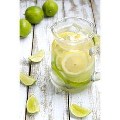 Eau detox citron et citron vert