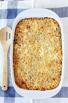 Spinach and Artichoke Quinoa Bake Recipe on twopeasandtheirpod.com If you like spinach artichoke dip, you will love this quinoa bake!