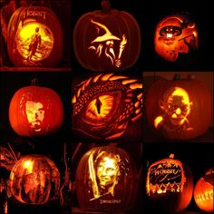 HabBIV' bRD& RINGS Some Super Cool Hobbit Halloween Pumpkins! Are You Planning Any Tolkien-Themed Celebrations This Halloween? Disney Halloween, Scary Halloween, Halloween Pumpkins, Halloween Decorations, Halloween Facts, Halloween 2020, Holidays Halloween, Happy Halloween, Spooky World