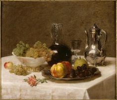 Victoria Dubourg Fantin-Latour (1840-1926): Corner Table (1901 c.). Wife of Henri Fantin-Latour. Paintings of the Museums of France: GRENOBLE