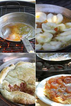 ... Pear upside down cake (Tarte Tatin) - grilled version ...