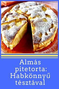 Mennyei tésztával! #torta #pite Apple Desserts, Cookie Desserts, Apple Recipes, Baking Recipes, Sweet Recipes, Cookie Recipes, Delicious Desserts, Dessert Recipes, Yummy Food