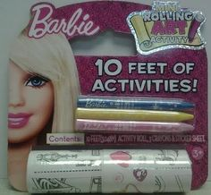 Barbie Mini Rolling Art Activity by Tara Toy Corp. $0.59. 10 ft. Of coloring paper. Color and Draw Activities. 3 Crayons. Fun for kids