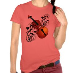 Violin,Lover at Heart_ Shirts T-Shirts and Tops with Violin music notes and hearts.Shirts/Tops comes in different styles,colors,sizes for all. LOW PRICES$$  by Elenne http://www.zazzle.com/violin_lover_at_heart_shirts-235742146973943917