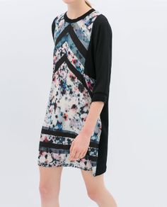 ZARA - NEW COLLECTION - PRINTED VELOUR DRESS
