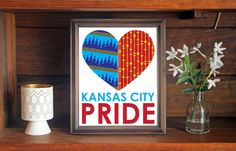 Kansas City Pride Heart Print, Personalize Your Kansas City Teams