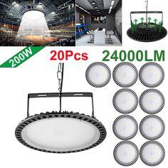 200W 110V 24000lm Super Bright LED UFO High Bay Light Factory Warehouse Lighting