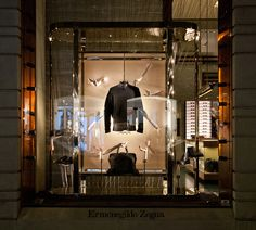 Ermenegildo Zegna windows 2014 Spring, Milan Italy window display