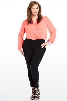 Plus Size Wrap Bodysuit | Fashion To Figure