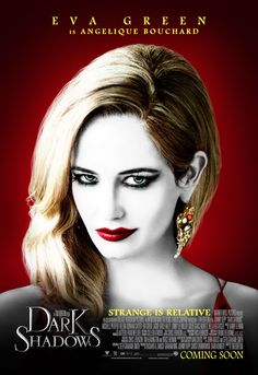 The character poster for actress Eva Green for Dark Shadows. She co-stars with Johnny Depp in the latest film from director Tim Burton. Eva Green Dark Shadows, Dark Shadows Movie, Green Characters, Tim Burton Characters, Cartoon Characters, Jeter Un Sort, Film Tim Burton, Actress Eva Green, 2012 Movie