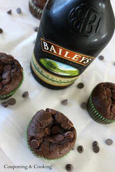 Baileys Irish Cream Chocolate Chip Muffins.    Baileys AND Chocolate!?  Yes, please!!