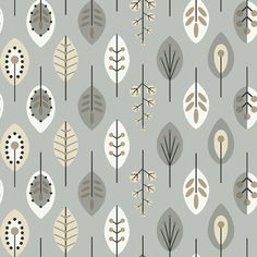 "Bistro 750; 33' x 20.5""; Retro Leaves Foiled Wallpaper by York Wallcoverings; CAD $1.79/sq ft; Metallic Silver / White / Black; wayfair.ca"