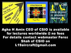 CSIO: Cocaine Hot Item for both Islamists and Euro Americans in Af Pak