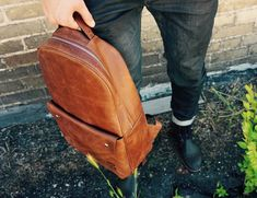 Get ready to take on the world with the Minimalist Leather Backpack by Päsk Goods. Designed by students and loved by travellers, this bag is built to last.