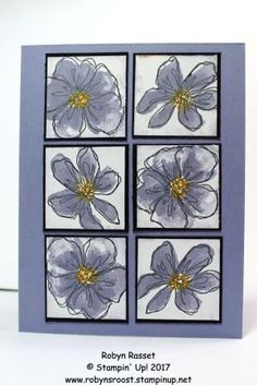 Stampin' Up! Easy Cards, Cool Cards, Card Crafts, Fun Crafts, 2017 Stamps, Stampin Up Catalog, Pen And Paper, Card Designs, Flower Cards