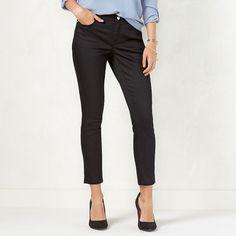 Women's LC Lauren Conrad Skinny Jeans, Size: 14 T/L, Black