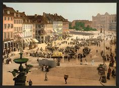 Copenhagen life around 1900, necessary activities