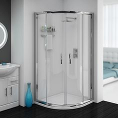 Cove Quadrant Shower Enclosure With Tray Waste 2 Size Options At Victorian Plumbing Uk
