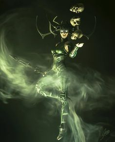 Goddess of death Hela Marvel Hela, Marvel E Dc, Marvel Comics Art, Marvel Women, Marvel Girls, Marvel Avengers, Thor, Loki, Female Comic Characters