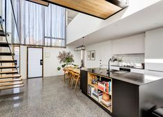 Open House: 15 Little George Street, Fitzroy Kitchen Bar Counter, Kitchen Dining, Dining Rooms, Dream House Interior, Minimalist Apartment, Kitchen Interior, Open House, Home Projects, Home And Family