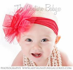 Red Snowflake Headband from The Couture Baby