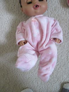 A personal favorite from my Etsy shop https://www.etsy.com/listing/454188762/baby-alive-doll-clothes-handmade-footed