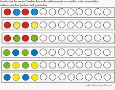 El blog de María: TRABAJAMOS LAS SERIES Creative Activities For Kids, Preschool Learning Activities, Preschool Curriculum, Math For Kids, Preschool Worksheets, Kindergarten Math, Preschool Activities, Kids Learning, Pattern Worksheet