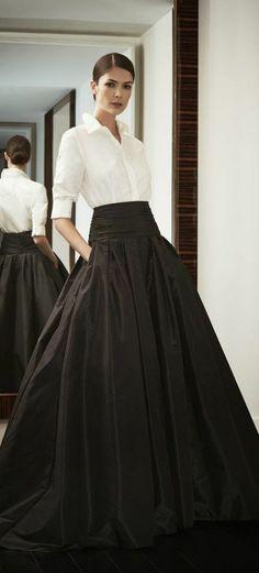 longue jupe noir comment on peut la porter?
