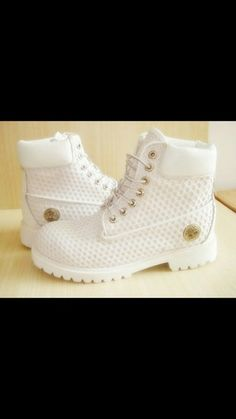 shoes all white timberland boots