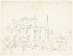 Cornelis Pronk | Het kasteel te Gellicum, Gelderland, Cornelis Pronk, 1731 |