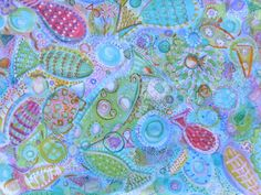 Color Stream    Acrylic ,Copic markers, crayon on canvas. By Mary wadsworth