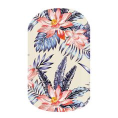 Tiki Hut | Jamberry | With pink tropic florals and oversized blue ferns, 'Tiki Hut' will have you feeling whisked away on a tropical island adventure.