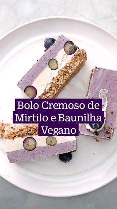 Raw Vegan Recipes, Cooking Recipes, Tortillas Veganas, Delicious Desserts, Dessert Recipes, Good Food, Yummy Food, Blueberry Cake, Smoothies