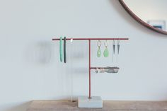 Copper and marble jewellery storage from Oliver Bonas