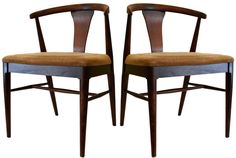 Pair Wishbone Side Chairs | From a unique collection of antique and modern side chairs at https://www.1stdibs.com/furniture/seating/side-chairs/