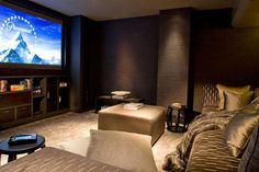 This is dark and cozy. Perfect for movie watching!