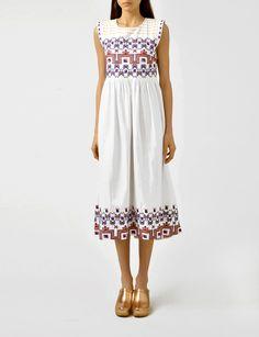 Suno empire waist embroidery dress at Bird : ShopBird.com