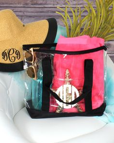 This clear tote is perfect for both the beach and the football stadium! Get it…