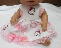 """13"""" Baby Alive Doll Clothes Hello Kitty Dress Pink White Adorable 12 13"""" Dolls   eBay"""