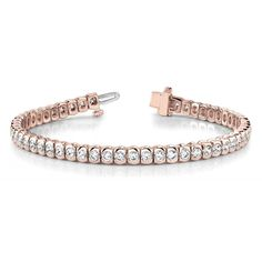 Diamantarmband 5.10 Karat Brillanten, 750/18K Rosegold