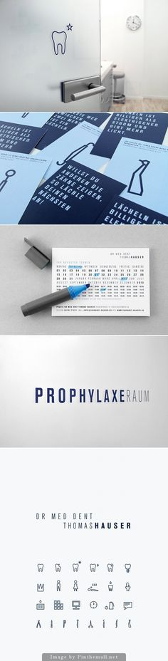 Laughing is healthy - a dentist brand identity - created via http://pinthemall.net
