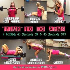 Arm Workout with Gym boss! This is a killer workout! Beast Mode On! Fitness Tips, Fitness Motivation, Health Fitness, New Shape, Get In Shape, Bicep And Tricep Workout, Sport, Arm Flab, I Work Out