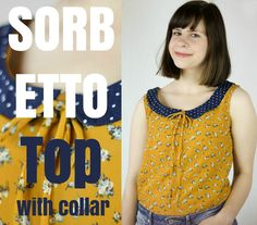 Sorbetto Top by Colette Patterns with collar | sewn by Seemannsgarn handmade | peter pan collar | dotted collar