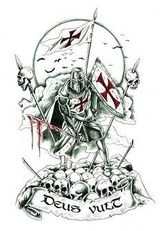Discover Knight Templar Warrior T-Shirt, a custom product made just for you by Teespring. - Beautiful and quality Knight Templar. Masonic Art, Masonic Symbols, Knight Art, Dragon Knight, Knights Hospitaller, Knights Templar, Templar Knight Tattoo, Spartan Tattoo, Crusader Knight