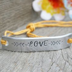 Friendship Bracelet ONE Hand Stamped Couples by AlwaysAMemory