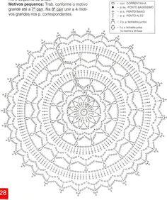 Esquema Patrón Mandala Crochet Ganchillo