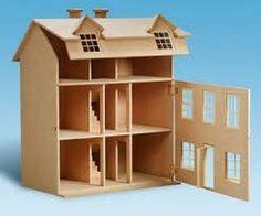 Una casa de muñecas de cartón