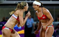 Misty May-Treanor & Kerri Walsh Jennings: Beach Volleyball Results!: Photo Misty May-Treanor and Kerri Walsh Jennings tear up as the national anthem plays during the medal ceremony for Women's Beach Volleyball on Day 12 of the 2012 Summer… Beach Volleyball, Olympic Volleyball, Volleyball Players, Olympic Gymnastics, Olympic Sports, Olympic Athletes, Soccer, Volleyball Training, Athletic Women