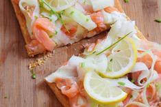 Tarte au saumon fumé et concombre