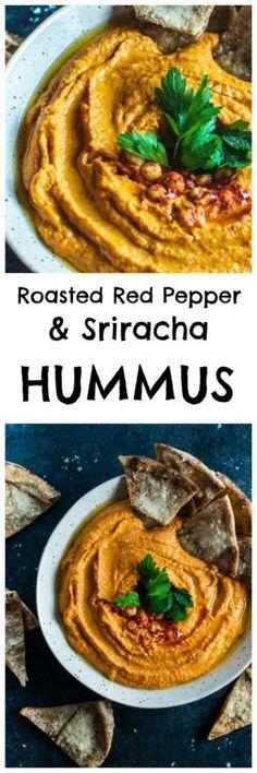 Roasted Red Pepper and Sriracha Hummus